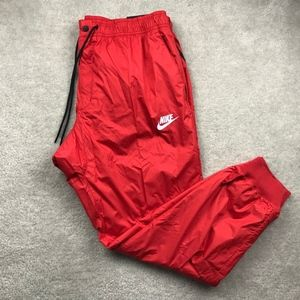 Nike Windrunner Cuffed Jogger Pants Red White